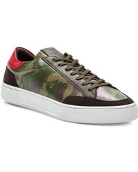 The Kooples - Camouflage Leather Lace-up Trainers - Lyst