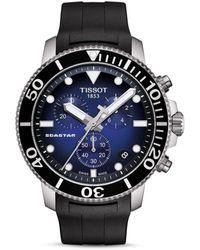 Tissot Seastar 1000 Blue - Dial & Black Rubber Strap Chronograph - Multicolour