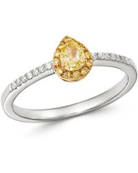 Bloomingdale's Yellow & White Diamond Ring In 14k Yellow & White Gold - Multicolour