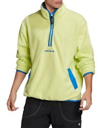 adidas Pullover Half Zip Fleece - Yellow