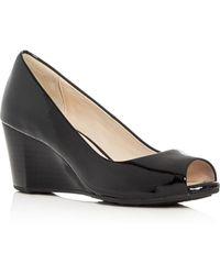 Cole Haan - Sadie Peep Toe Wedge Court Shoes - Lyst