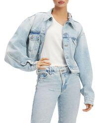 GOOD AMERICAN Classic Denim Jacket - Blue