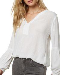 O'neill Sportswear Linetta Puff - Sleeve Blouse - White