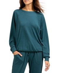 Eberjey Mina Ringer Sweatshirt - Green