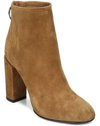 Via Spiga - Women's Nadia Suede High Block Heel Booties - Lyst