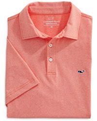Vineyard Vines St. Jean Stripe Sankaty Regular Fit Polo Shirt - Pink