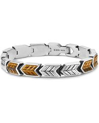 David Yurman - Chevron Link Bracelet With Tiger's Eye - Lyst