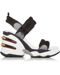 Ash Cosmos Wedge Platform Trainer Sandals - Black