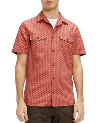 Ted Baker - Dot Print Camp Shirt - Lyst