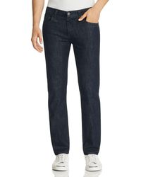 J Brand Kane Slim Straight Fit Jeans In Hirsch - Blue