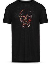 John Varvatos Artisanal Embroidered Skull Tee - Black