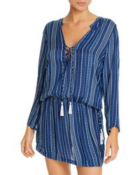 Cool Change Chloe Cover Up Tunic - Blue