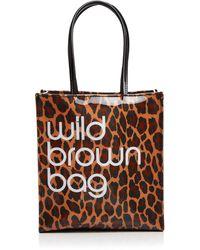 Bloomingdale's Wild Brown Bag