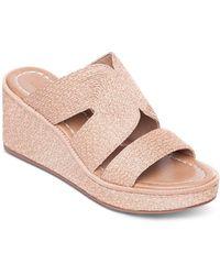 Bernardo Women's Kaia Raffia Wedge Heel Sandals - Multicolor