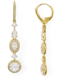 Nadri - Linear Cubic Zirconia Leverback Earrings - Lyst