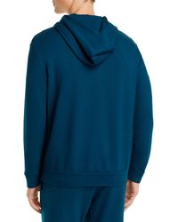 Monrow Supersoft Full Zip Hoodie - Blue