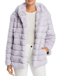 Maximilian - Hooded Rabbit Fur Coat - Lyst