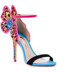 Sophia Webster - Chiara Embroidered Butterfly Satin Sandals - Lyst