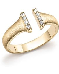 Bloomingdale's - Diamond Open Ring In 14k Yellow Gold, .10 Ct. T.w. - Lyst