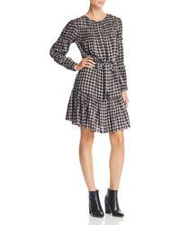 Rebecca Taylor - La Vie Shirred Plaid Dress - Lyst