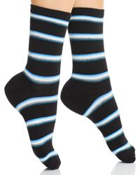 Kate Spade Striped Socks - Black