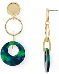 Aqua - Multi-loop Drop Earrings - Lyst