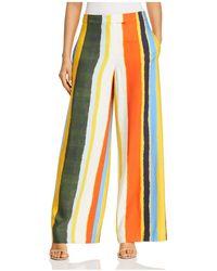 Tory Burch - Fiona Striped Wide-leg Trousers - Lyst
