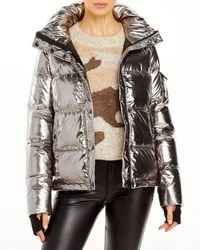 Aqua Metallic Ella Puffer Jacket - Multicolour