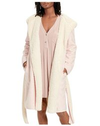 UGG Portola Fleece Reversible Robe - Pink