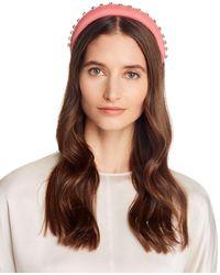 Aqua Embellished Padded Headband - Pink