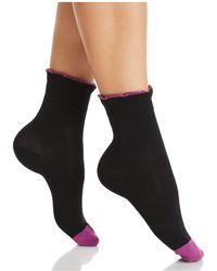 Hue - Ruffle Cuff Shortie Socks - Lyst