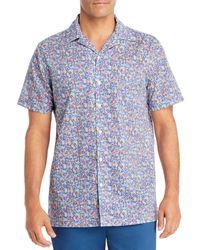 Onia Wave Print Camp Shirt - Blue