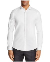 Michael Kors - Stretch Cotton Slim Fit Button-down Shirt - Lyst