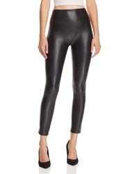 Olivaceous Faux-leather Leggings - Black