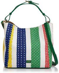 Frances Valentine Woven Stripe Medium Hobo - Multicolor