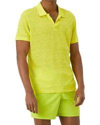 Vilebrequin Linen Jersey Polo Shirt - Yellow