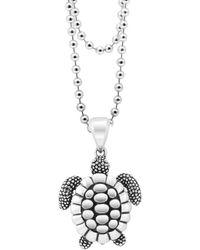 Lagos Rare Wonders Sea Turtle Pendant Necklace - Metallic