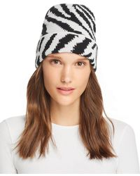 Aqua Zebra Hat - Black
