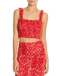 Cool Change Daria Meadow Cropped Top Swim Cover - Up - Red