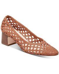 Loeffler Randall Imogene Woven Block - Heel Court Shoes - Brown