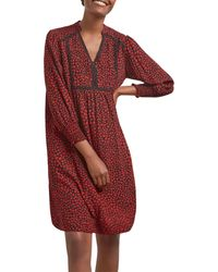 Gerard Darel Tara Heart Print Dress - Red