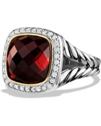 David Yurman - Albion Ring With Garnet And Diamonds With 18k Gold - Lyst