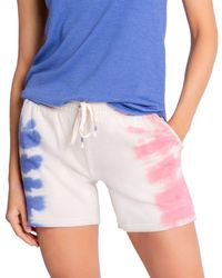 Pj Salvage Fade Away Tie Dyed Shorts - Blue