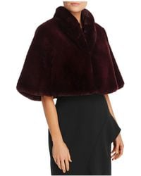 Betsey Johnson - Faux Fur Capelet - Lyst
