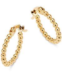 Moon & Meadow - Beaded Hoop Earrings In 14k Yellow Gold - Lyst