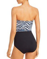 Tommy Bahama Zanzibar Bandeau One Piece Swimsuit - White