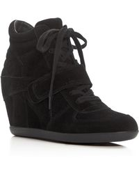 Ash Bowie Lace Up Wedge Sneakers - Black