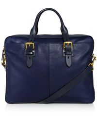 Cole Haan | Brayton Pebbled Leather Briefcase | Lyst