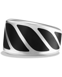 David Yurman - Graphic Cable Band Ring With Black Onyx - Lyst