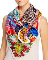 Echo Springtime Patch Silk Scarf - Multicolour